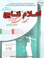 اعلام نتایج مسابقه طراحی المان شهدای مفقودالاثر استان قزوین