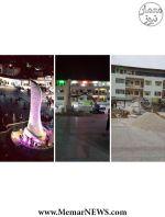 تخریب المان جنجالی میدان انقلاب بوشهر
