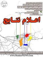 اعلام نتایج و نمایش آثار چهارمین مسابقه پیشنهادی برای تهران